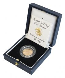 1998 Proof Half Sovereign for sale